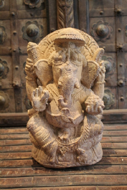 Sandstone Ganesha Sculpture, Hand Carved, Orissa <b>SOLD<b>